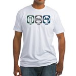 Eat Sleep Sales Fitted T-Shirt