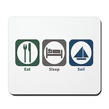 Eat Sleep Sail Mousepad