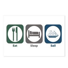 Eat Sleep Sail Postcards (Package of 8)