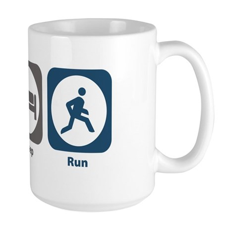 Eat Sleep Run Large Mug