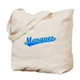 Retro Marques (Blue) Tote Bag