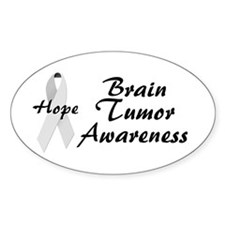 Brain Tumor Awareness Oval Decal