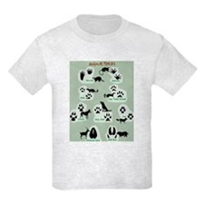 Animal Tracks kid's Shirt