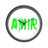Amir Faded (Green) Wall Clock