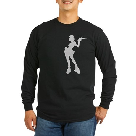 Sexy Nurse Long Sleeve Dark T-Shirt