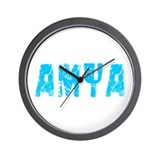 Amya Faded (Blue) Wall Clock