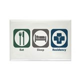Eat Sleep Residency Rectangle Magnet (10 pack)
