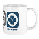 Eat Sleep Residency Small Mug
