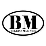 BM Abbreviation Belgian Malinois Decal