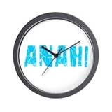 Anahi Faded (Blue) Wall Clock