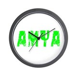 Amya Faded (Green) Wall Clock