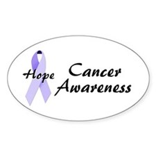 Cancer Awareness Oval Decal