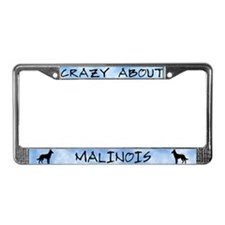 Crazy About Malinois License Plate Frame