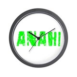 Anahi Faded (Green) Wall Clock