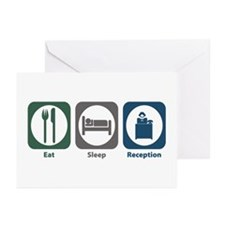 Eat Sleep Reception Greeting Cards (Pk of 20)