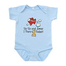1st Birthday Airplane Infant Bodysuit