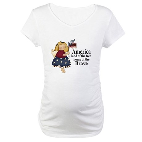 America Angel Maternity Tee