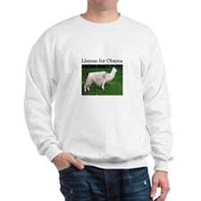Llamas for Obama Sweatshirt