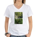 Eel River at Ravencliff Women's V-Neck T-Shirt