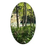 Eel River at Ravencliff Oval Sticker (10 pk)
