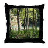 Eel River at Ravencliff Throw Pillow