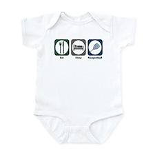 Eat Sleep Racquetball Infant Bodysuit