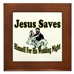 Jesus Saves Framed Tile