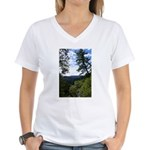 Eel River from the cliff Women's V-Neck T-Shirt