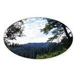 Eel River from the cliff Oval Sticker (10 pk)