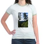 Eel River from the cliff Jr. Ringer T-Shirt