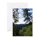 Eel River from the cliff Greeting Cards (Pk of 20)