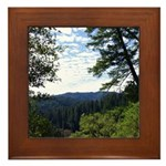 Eel River from the cliff Framed Tile