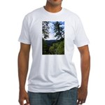 Eel River from the cliff Fitted T-Shirt