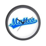 Retro Matteo (Blue) Wall Clock