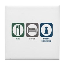 Eat Sleep Public Speaking Tile Coaster