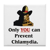 """Prevent Chlamydia"" Tile Coaster"