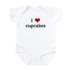 I Love cupcakes Onesie