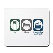 Eat Sleep Production Assistant Mousepad