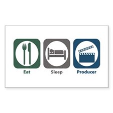 Eat Sleep Producer Rectangle Decal