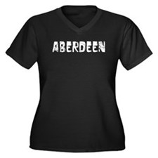 Aberdeen Faded (Silver) Women's Plus Size V-Neck D