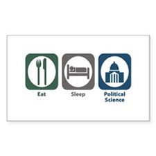 Eat Sleep Political Science Rectangle Sticker 10
