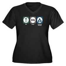Eat Sleep Political Science Women's Plus Size V-Ne