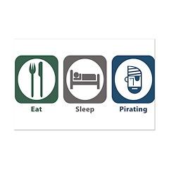 Eat Sleep Pirating Posters