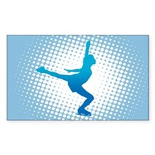 Figure Skating Rectangle Decal