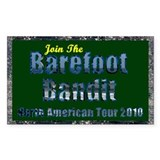 Barefoot Bandit Tour Rectangle Decal