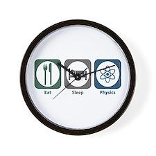 Eat Sleep Physics Wall Clock