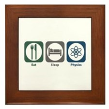 Eat Sleep Physics Framed Tile