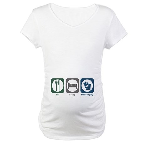 Eat Sleep Philosophy Maternity T-Shirt