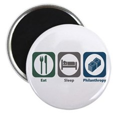 "Eat Sleep Philanthropy 2.25"" Magnet (10 pack)"
