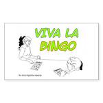Viva La Bingo Rectangle Sticker
